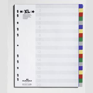 Sadalītājs A4/20 krāsas MAXI,  DURABLE
