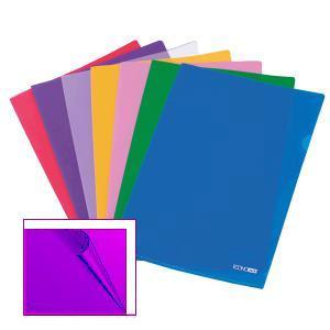 Папка-уголок глянцевая A4/180 мик. фиолетовая