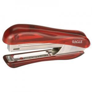 Степлер N10 EAGLE 5002 прозрачный/красный на 10листов