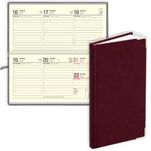 Kabatas kalendārs EKO Lady bordo