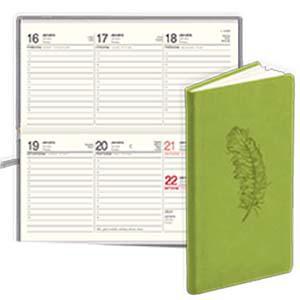 *Kabatas kalendārs EKO Lady māksl.āda Soft gaiši zaļš
