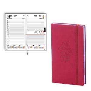 Dienasgrāmata EKO Elipse Soft,  māksl.āda,  sarkans