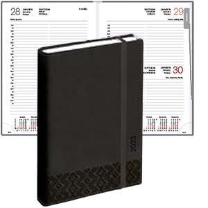 Dienasgrāmata EKO Manager Soft,  mākslīgā āda,  melns