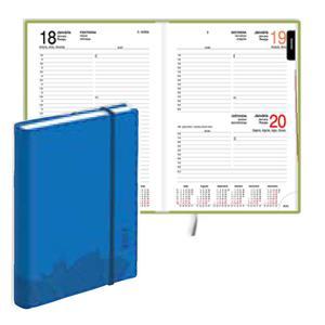 Dienasgrāmata EKO Manager Soft,  mākslīgā āda,  zils,  2017g.
