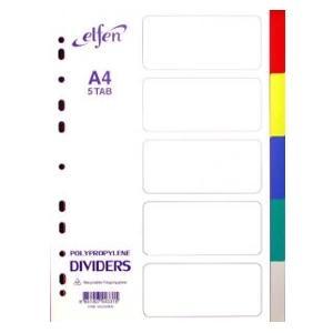 Sadalītājs A4/5 krāsas Elfen
