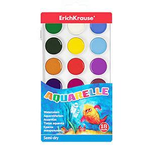 Akvareļkrāsas 18 krāsas ErichKrause