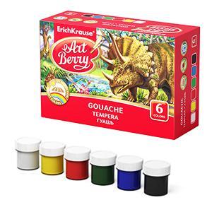 Guaša krāsas 6 krāsas x 20ml. ArtBerry ErichKrause