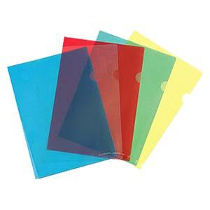 Папка-уголок глянцевая A4, 160мкр. прозрачная, жёлтая