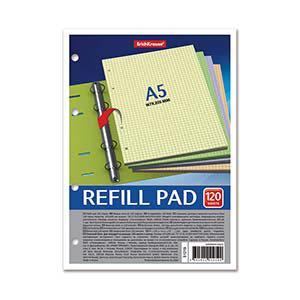 Rūtiņu papīra A5 120 krāsainas lapas ar caurumiem