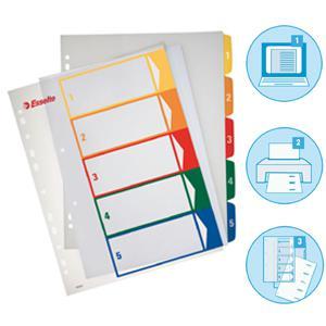 Sadalītājs ESSELTE Project A4 maxi,  1-5,  plastikāta