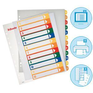 Sadalītājs ESSELTE Project A4 maxi,  1-12,  plastikāta