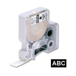 Marķ. lente DYMO D1,  12mmx7m,  balti burti uz melna fona