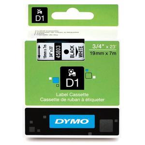 Marķ. lente DYMO D1,  19mmx7m,  melni burti uz balta fona
