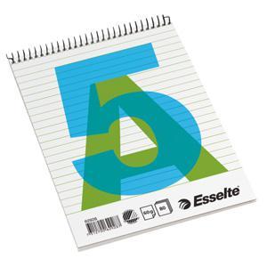Bloknots A5/80 lapas,  līniju ar spirāli ESSELTE
