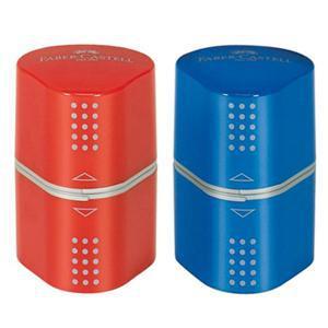 Zīmuļu asināmais Faber-Castell Grip Trio,  sarkans vai zils