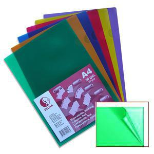 Папка-уголок A4/180 мик. зелёная
