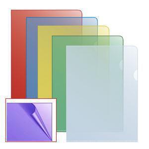 Папка-уголок матовая A4 фиолетовая