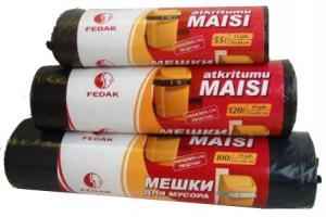 Maisiņi atkritumu 100L/10gab. 45mic,  LDPE 67x105