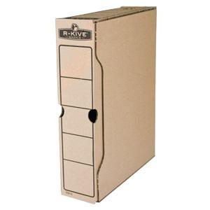 *Arhīva kārba A4/80mm Fellowes,  no brūna gofrēta kartona