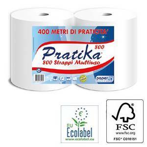 Industriālais papīrs no jaunšķiedras,  ar perf. 2 slāņi
