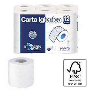 Tualetes papīrs 2 kārtu 12 ruļļi