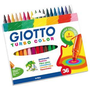 Flomāsteri GIOTTO 36 krāsas,  kartona iepakojums