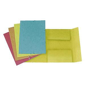 Mape FORPUS A4 kartona ar gumiju dzeltena