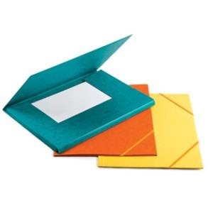 Mape FORPUS A4 kartona ar gumiju oranža krāsa