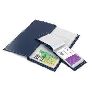 *Vizītkaršu bloks FORPUS 115x255mm 112 vizītkartēm tumši zil
