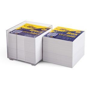 Piezīmju papīrs kārbā,  9x9cm,  800lap. Forpus,  balts