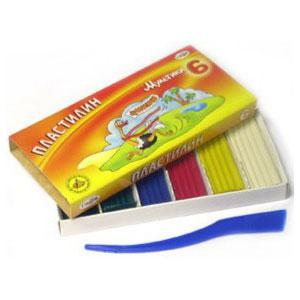 Plastilīns Gamma MULTENES 6 krāsas