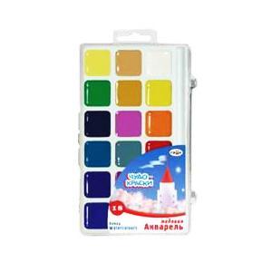 Akvareļkrāsas Gamma 18 krāsas BRINUMKRĀSAS