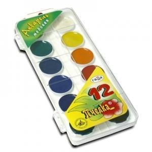 Akvareļkrāsas Gamma 12 krāsas BITĪTE bez otiņas