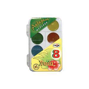 Akvareļkrāsas 8 krāsas BITĪTE Gamma