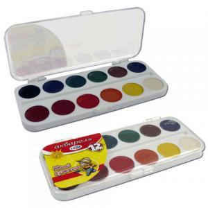 Akvareļkrāsas Gamma 12 krāsas JAUNAIS MAKSLINIEKS