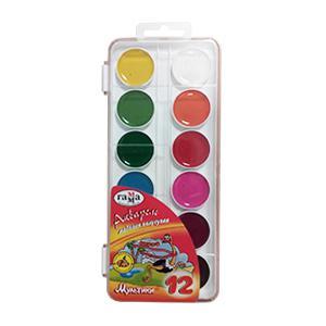 Akvareļkrāsas 12 krāsas Multiki Gamma