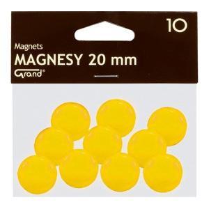 Magnēti 20 mm,  dzeltena krāsa