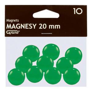 Magnēti 20 mm,  zaļa krāsa