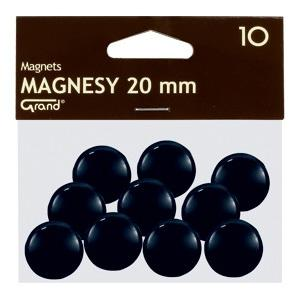 Magnēti 20 mm,  melna krāsa