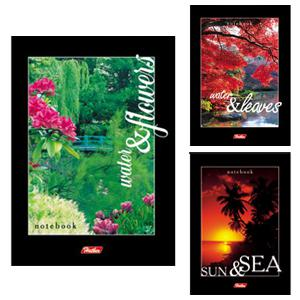 Bloknots A6/40 lapas rūtiņu ar spirāli Sun & Sea