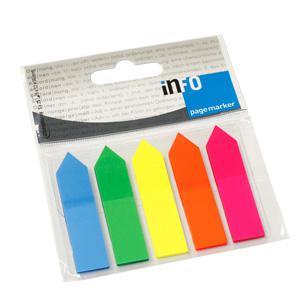 Indeksi INFO 12x50mm bultas,  5 krāsas x 25 lapas
