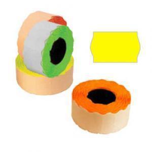Marķēšanas lente 26x16mm dzeltena,  1000uzl./rul.