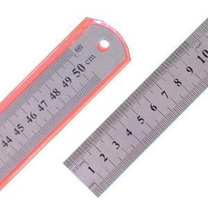 Lineāls 50cm,  metāla