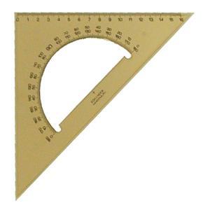 Trīsstūris KOH-I-NOOR 16cm/45* dūmu krāsa