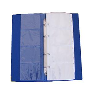 Vizītkaršu bloks KOH-I-NOOR ar 4 riņķiem,  ar alfabētu,  zils