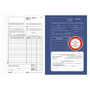 Darījumu apliecinošās kvītis A5 3-kārtas,  25 komplekti
