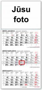 Sienas kalendārs A3 ar jūsu foto izm.29.7x63.5sm 2019g.