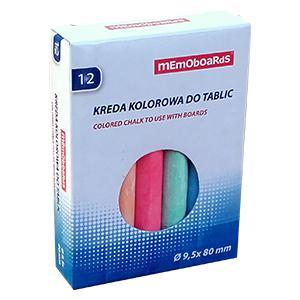 Krītiņi krāsainie 12 gab.Memoboards