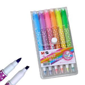 *Flomāsteru komplekts 6 krāsas dīvpusīgs AHM21980