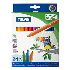 Flomāsteri 24 krāsas d=5mm conic tip, Milan